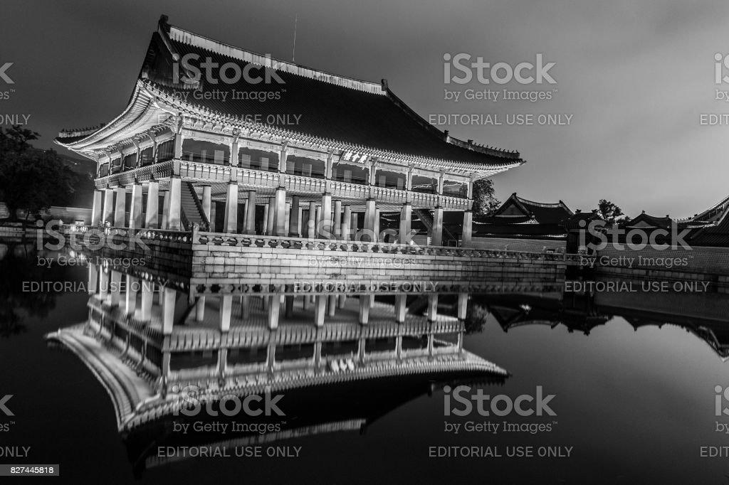 Gyeonghoeru in the Gyeongbokgung Palace stock photo