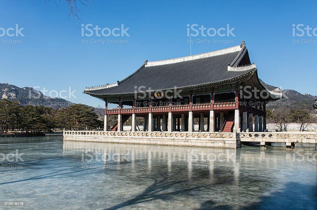 Gyeonghoeru Pavilion stock photo