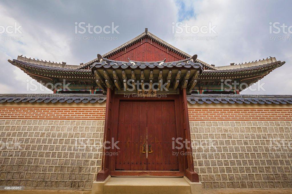 Gyeonghoeru Royal Banquet Hall, Gyeongbokgung Palace, South stock photo