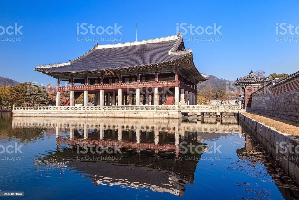 Gyeonghoeru Royal Banquet Hall. stock photo
