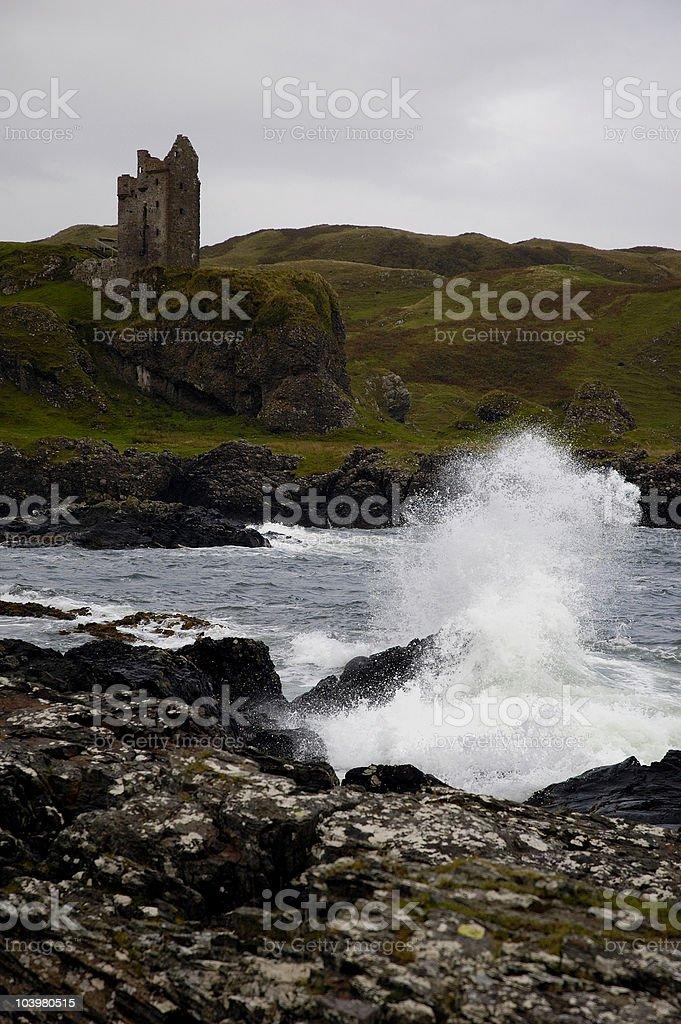 Gylen Castle stock photo