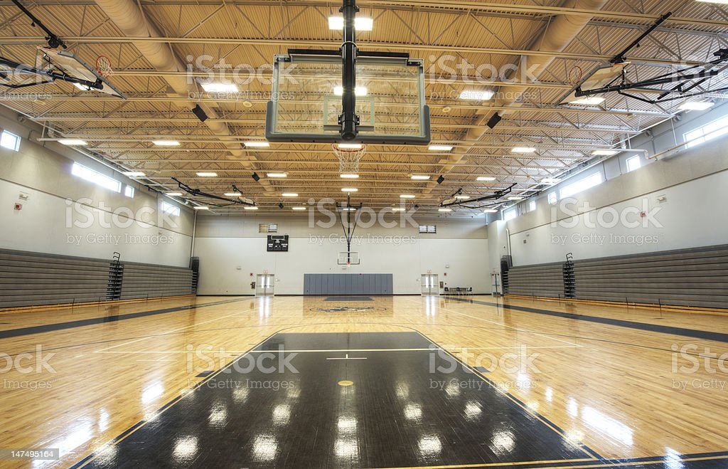 Gym at Middle School stock photo