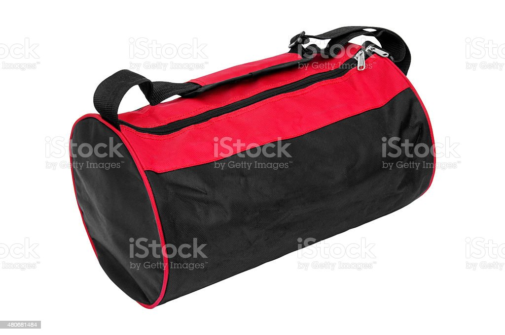 Gym Bag+Clipping Path stock photo