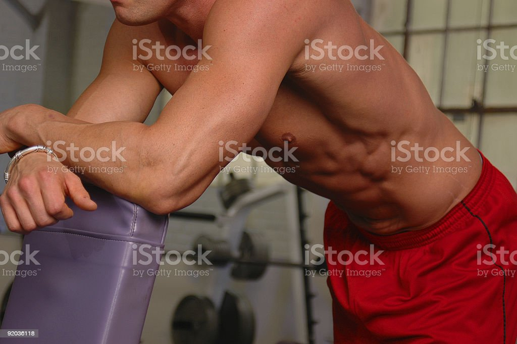 Gym Body royalty-free stock photo