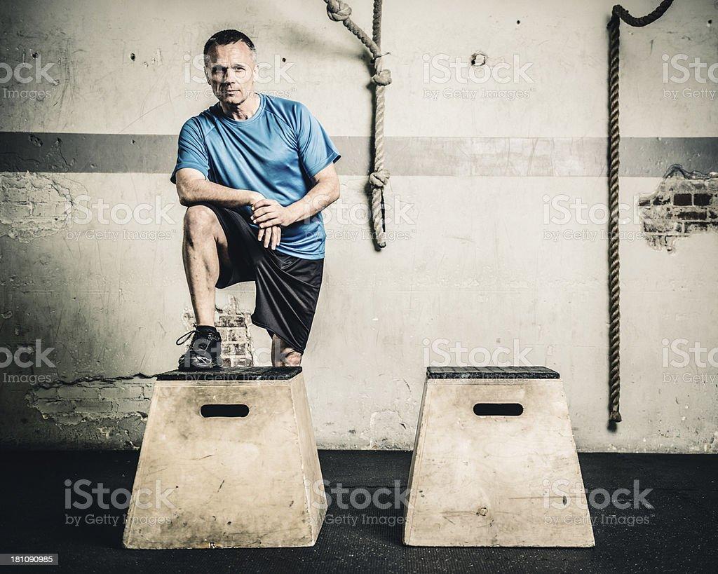gym box jump royalty-free stock photo