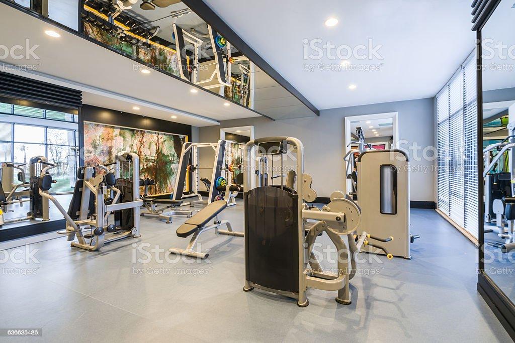 Gym center stock photo