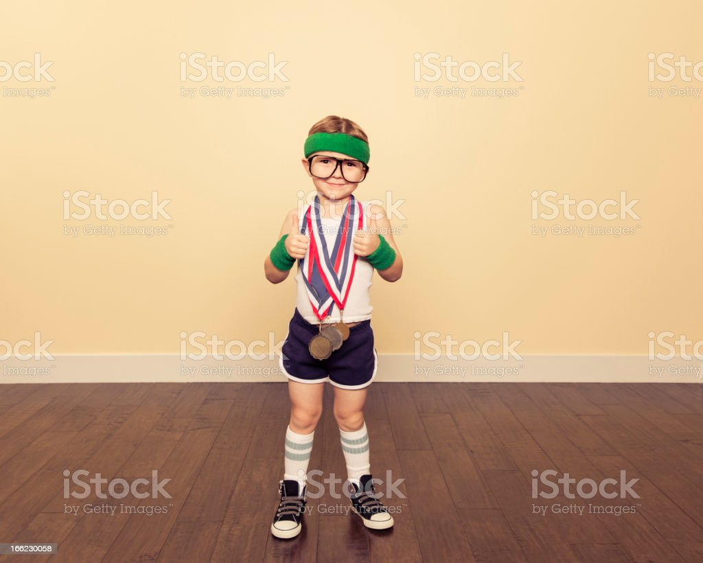 gym Champion stock photo