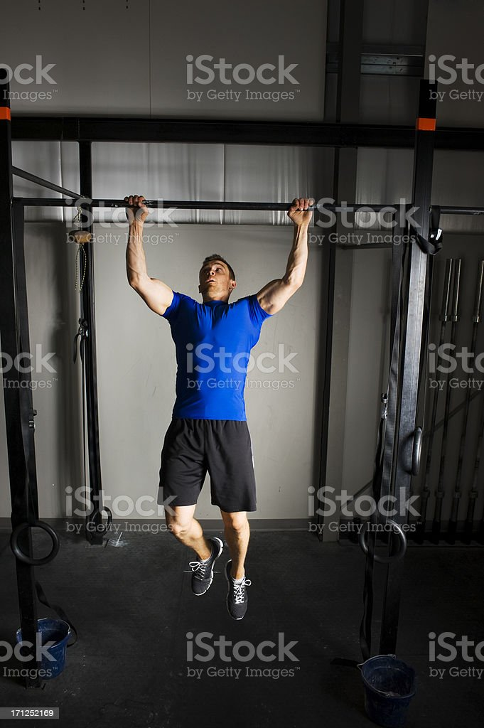 gym Chinup stock photo