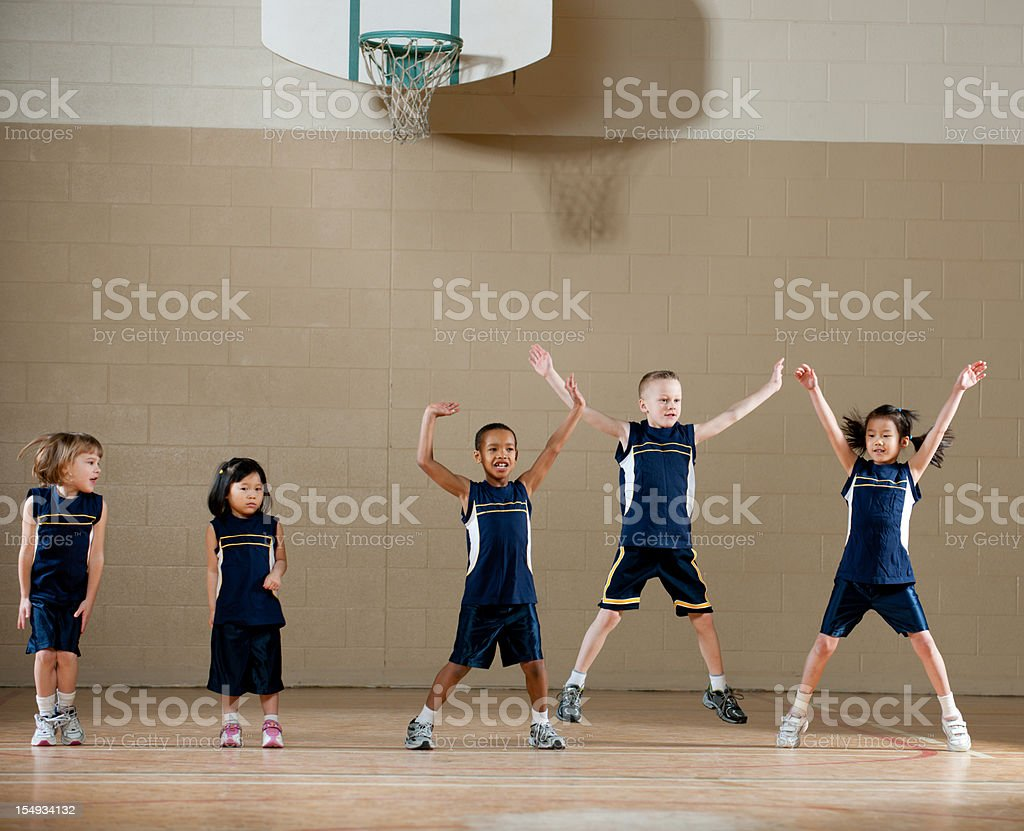 Gym Class stock photo