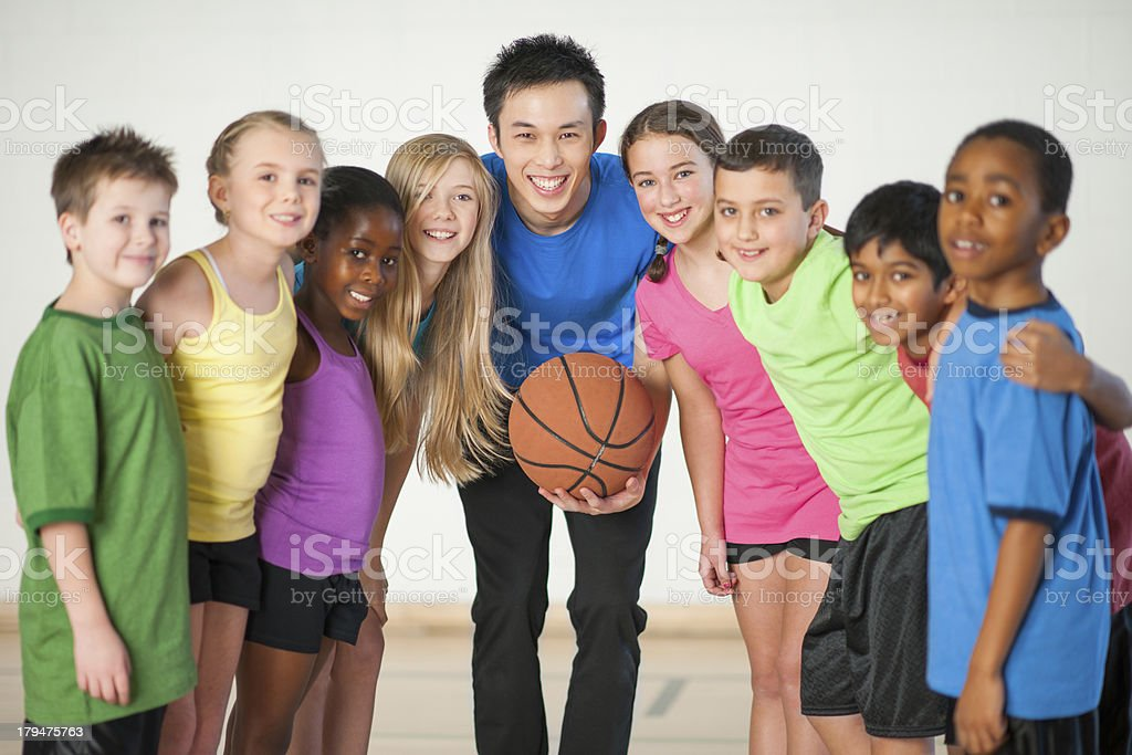 Gym Class royalty-free stock photo