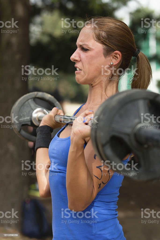 Crossfit cleans royalty-free stock photo