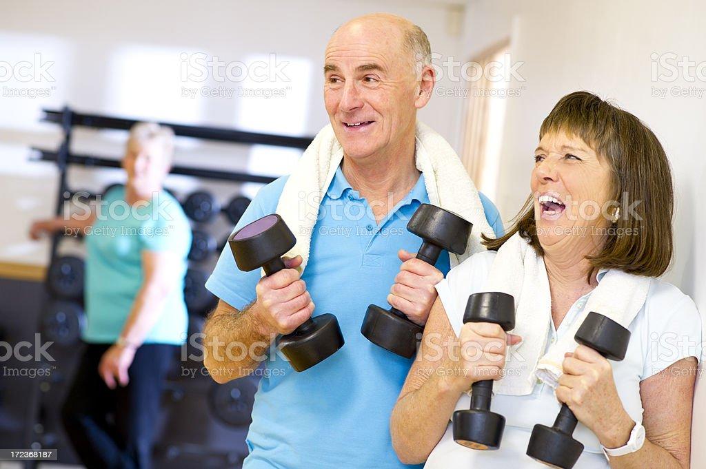 gym couple royalty-free stock photo