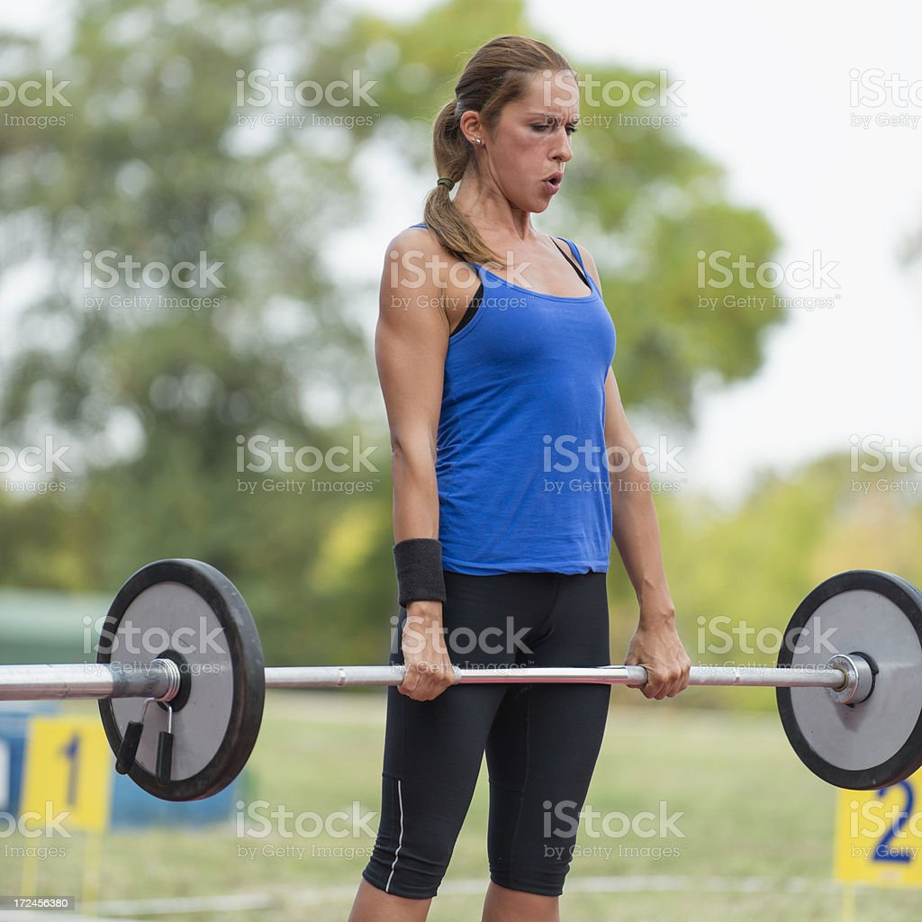 gym deadlifting royalty-free stock photo