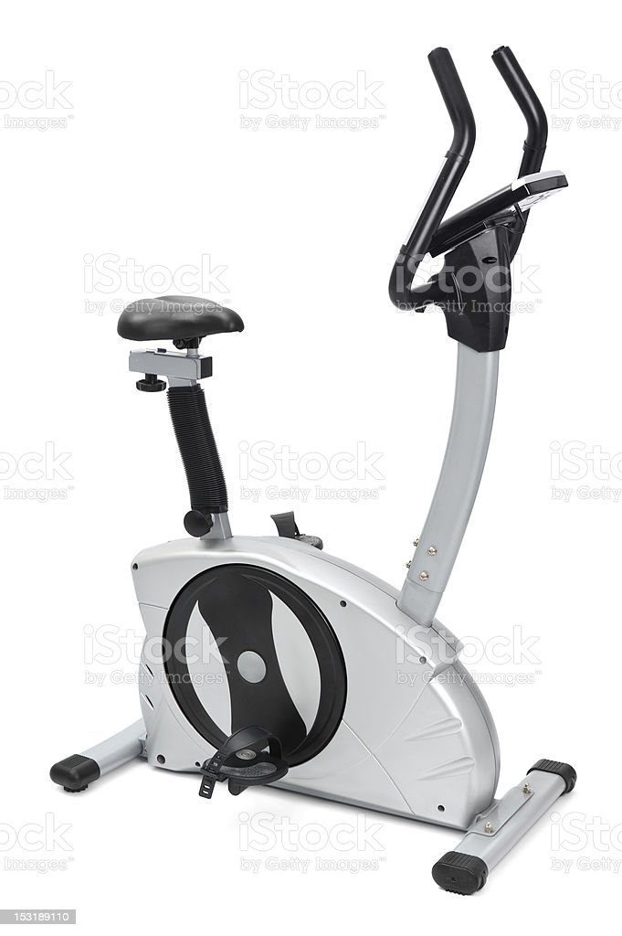 gym equipment, spinning machine for cardio workouts royalty-free stock photo