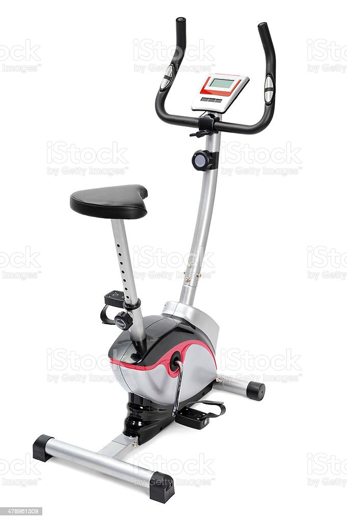 gym equipment, spinning machine for cardio workouts stock photo