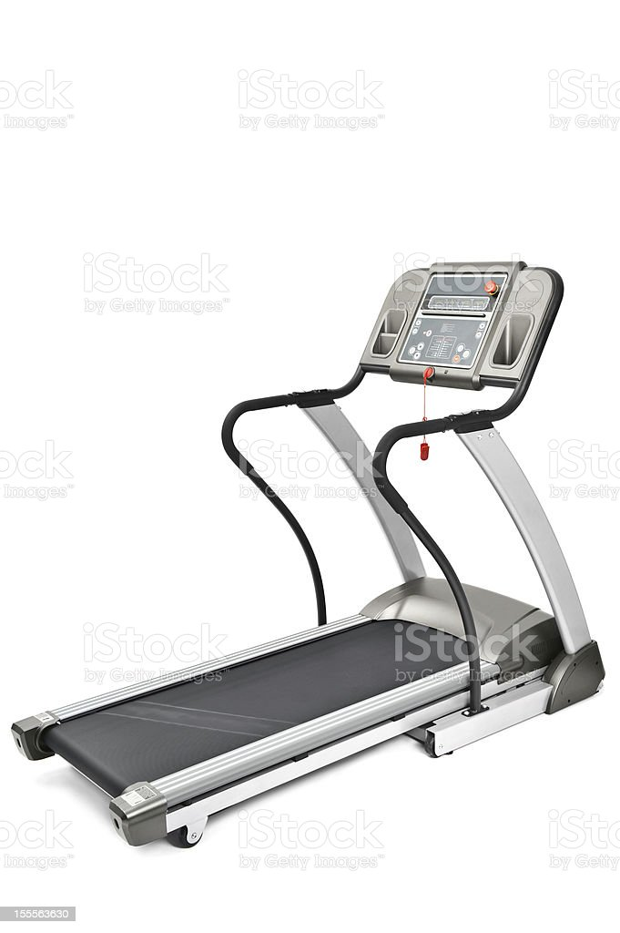 gym equipment, treadmill machine for cardio workouts royalty-free stock photo