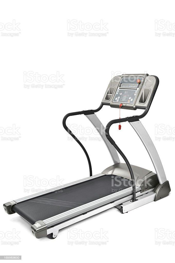 gym equipment, treadmill machine for cardio workouts stock photo
