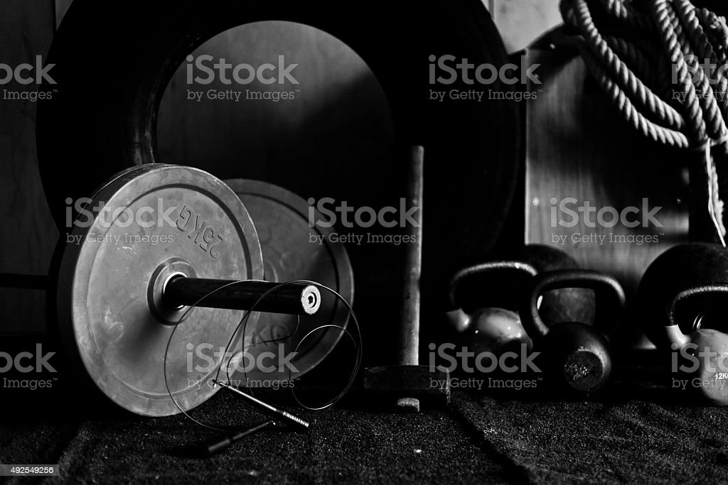 gym Equipment V stock photo