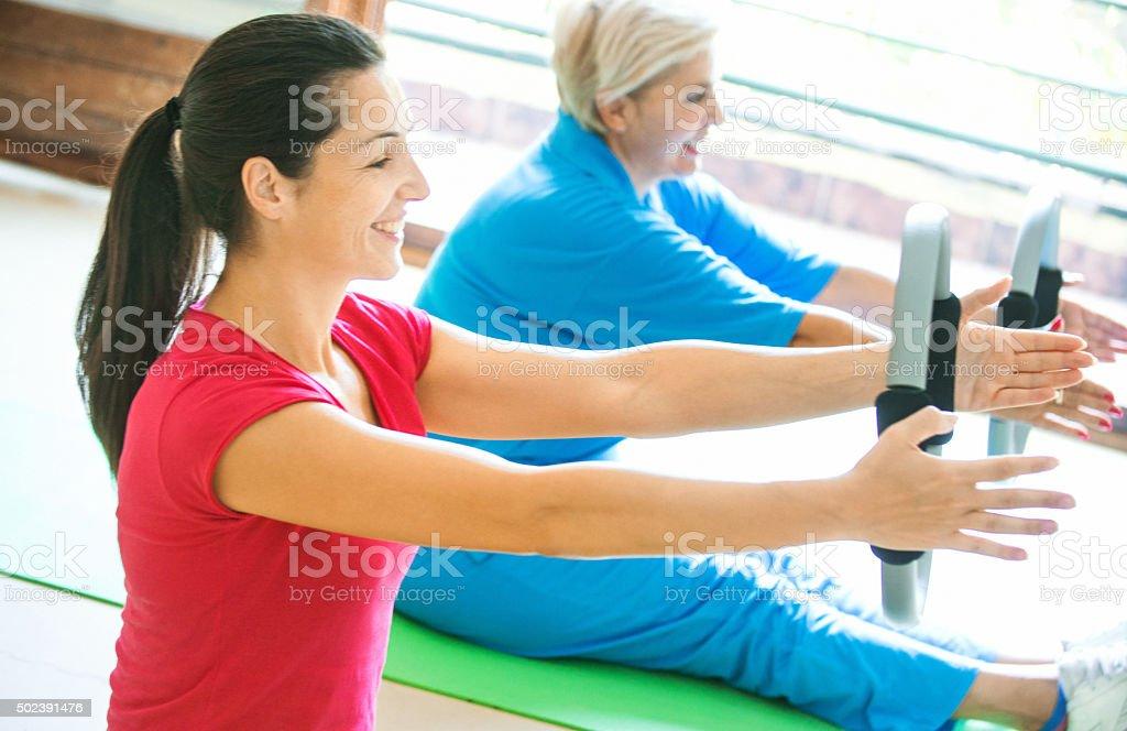 Gym exercise. stock photo