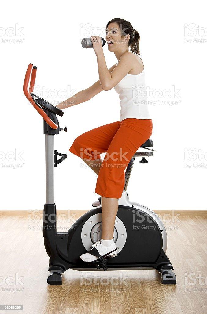 Gym exercise royalty-free stock photo