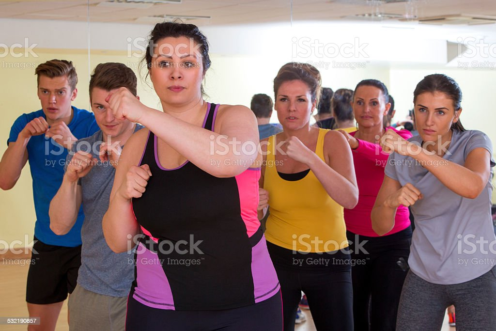 Gym Fitness Class stock photo