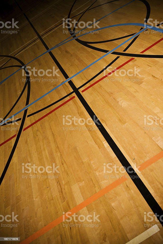 Gym floor royalty-free stock photo