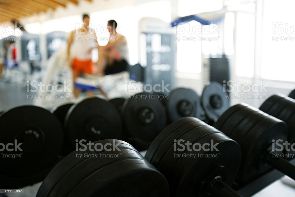 Gym & friends royalty-free stock photo