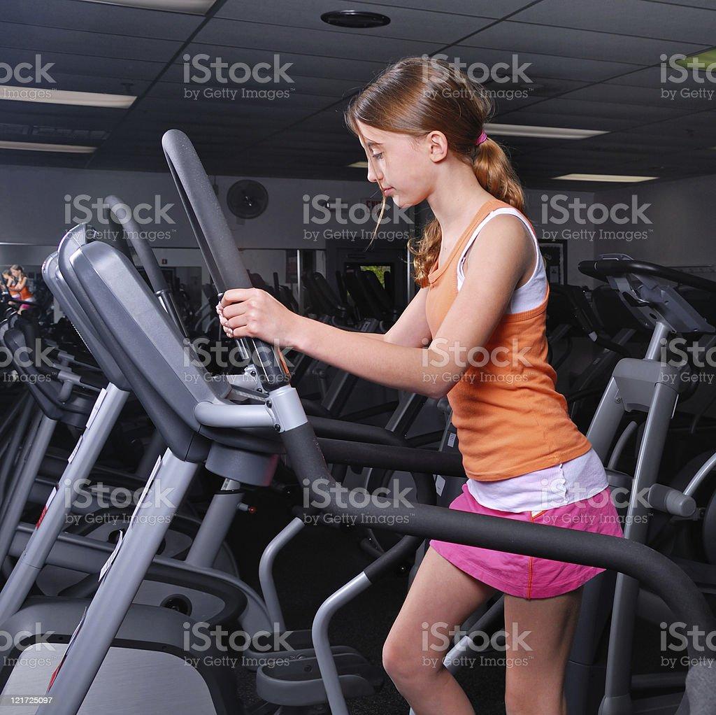 Gym Girl royalty-free stock photo