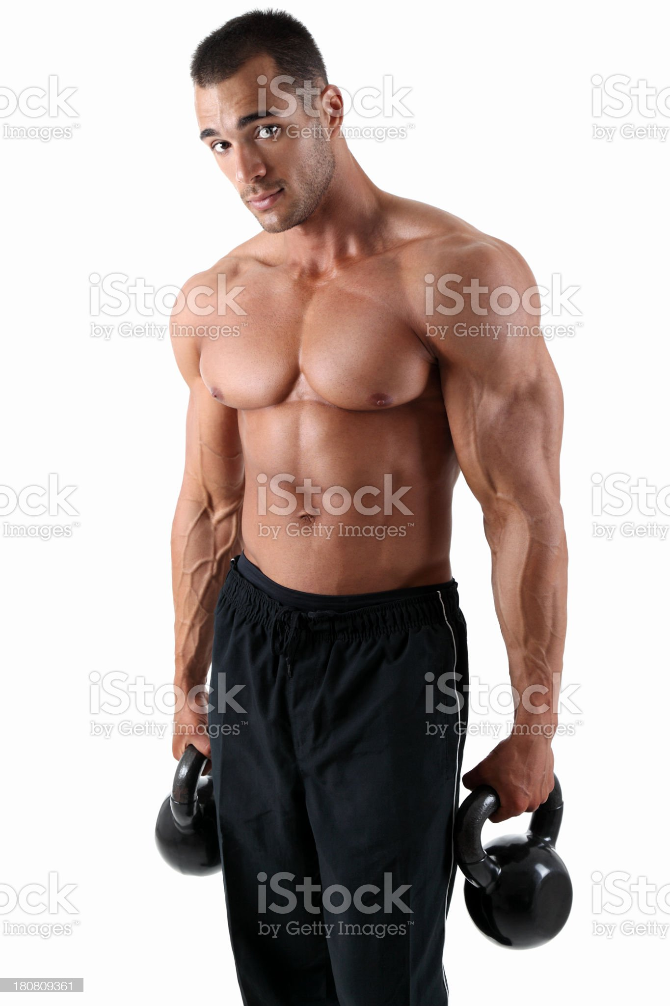 Crossfit guy royalty-free stock photo