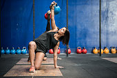 Crossfit gym workout: Kettle bell class