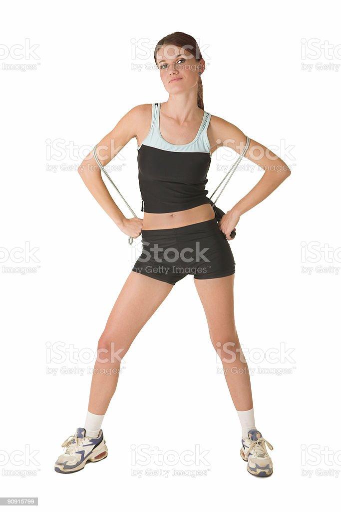 Gym lady royalty-free stock photo