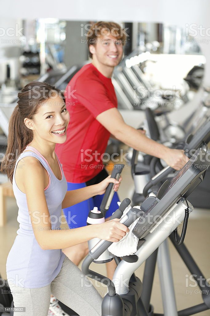 Gym people in fitness center royalty-free stock photo