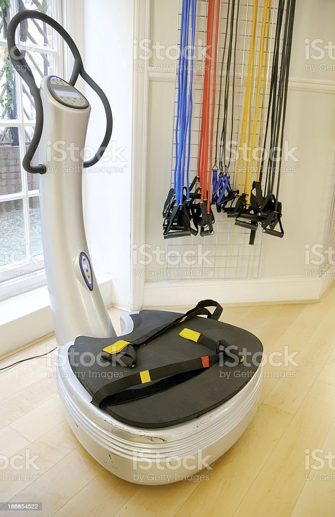 Gym Power Plate royalty-free stock photo