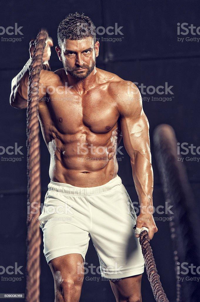 gym Rope Training stock photo