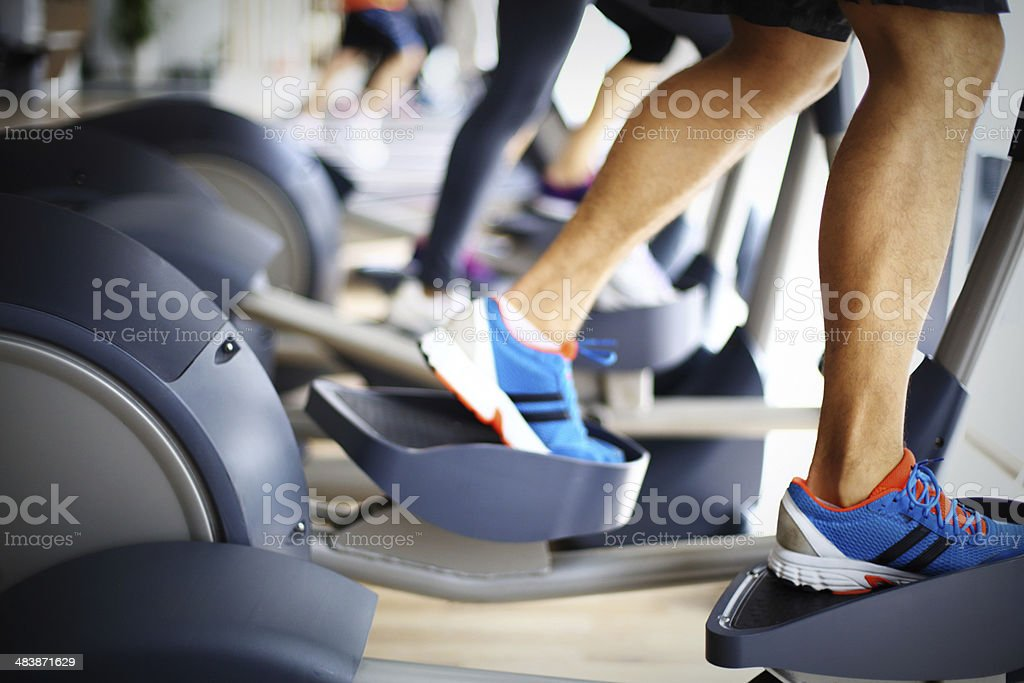 Gym routine. stock photo