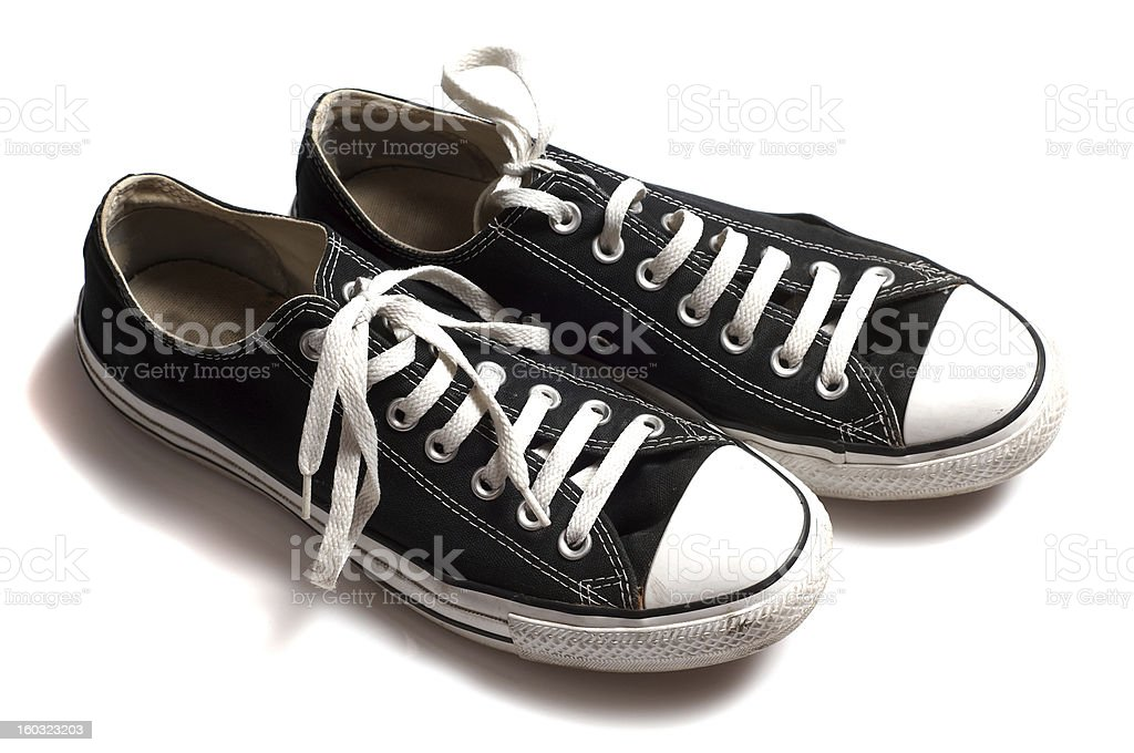 Gym shoes isolated royalty-free stock photo
