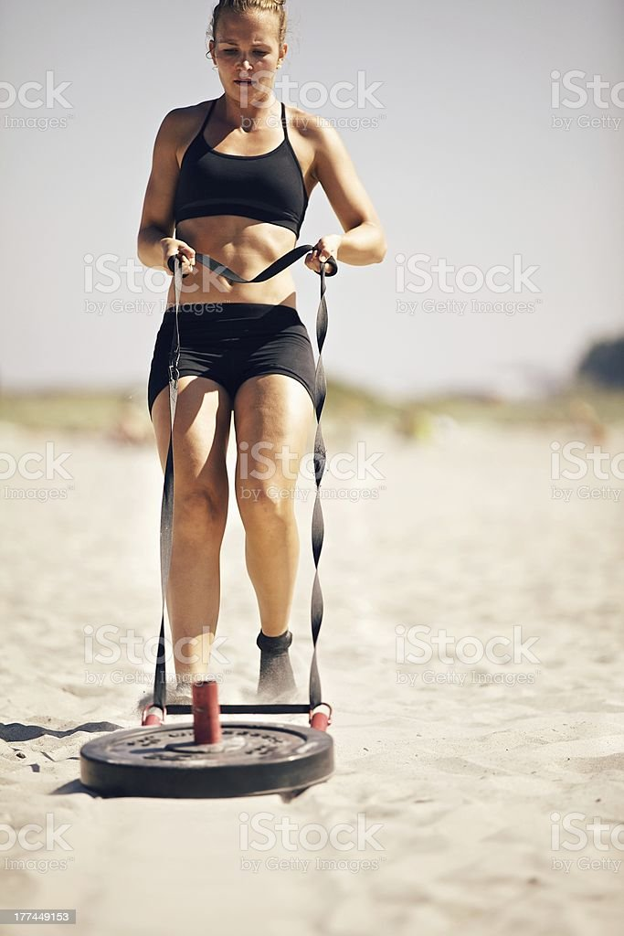 gym Sled Pull royalty-free stock photo