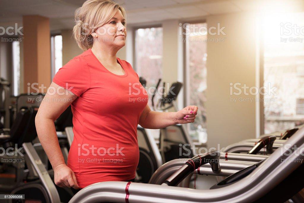 Gym time stock photo
