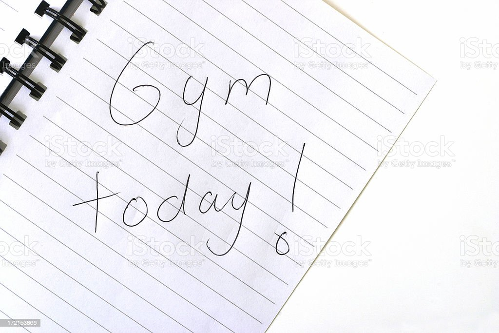 Gym Today! royalty-free stock photo