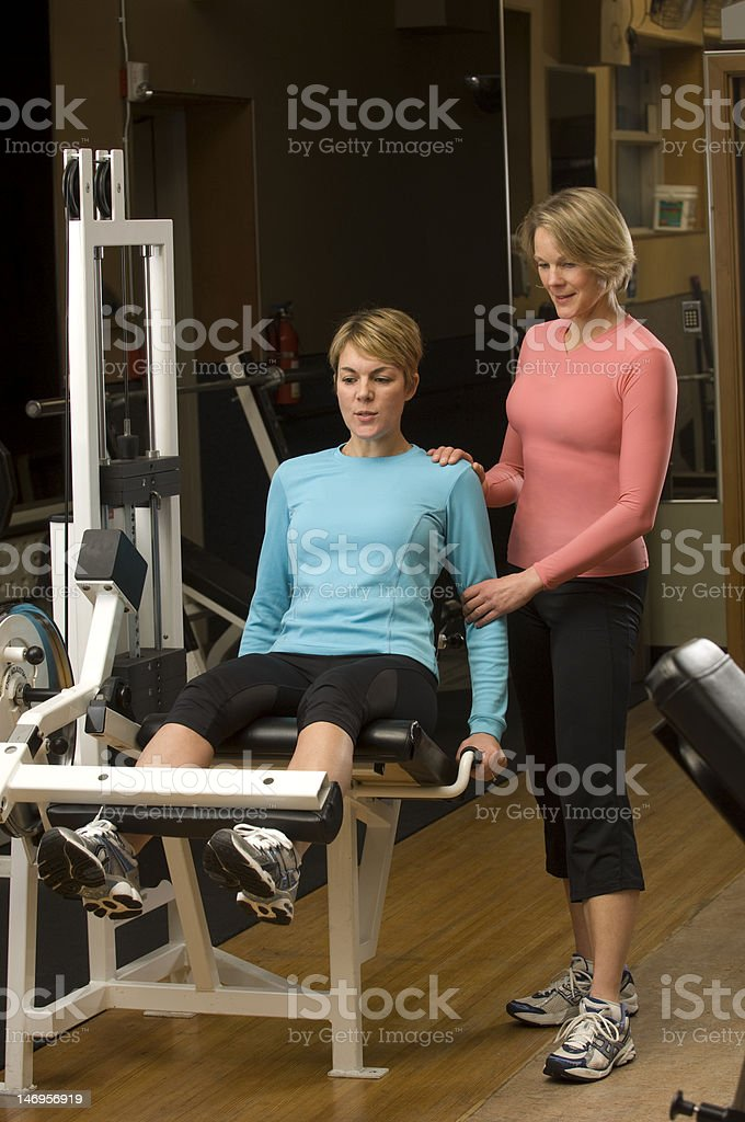 Gym Trainer royalty-free stock photo