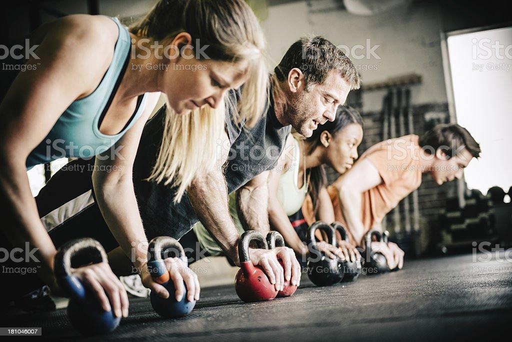 gym Training Push Ups royalty-free stock photo