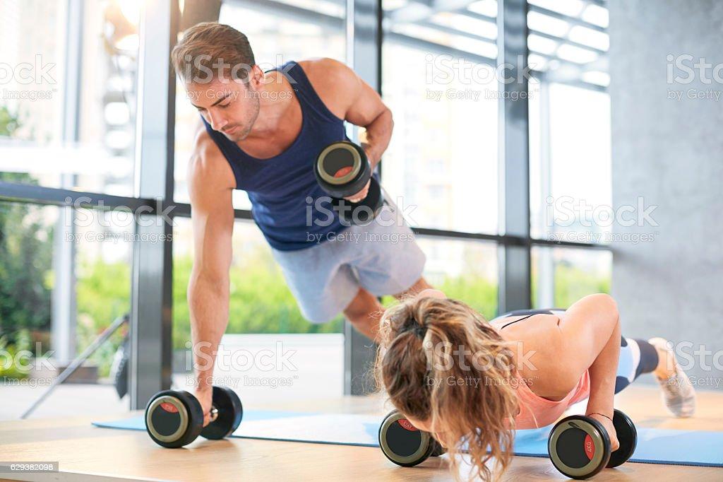 gym Training Push Ups stock photo
