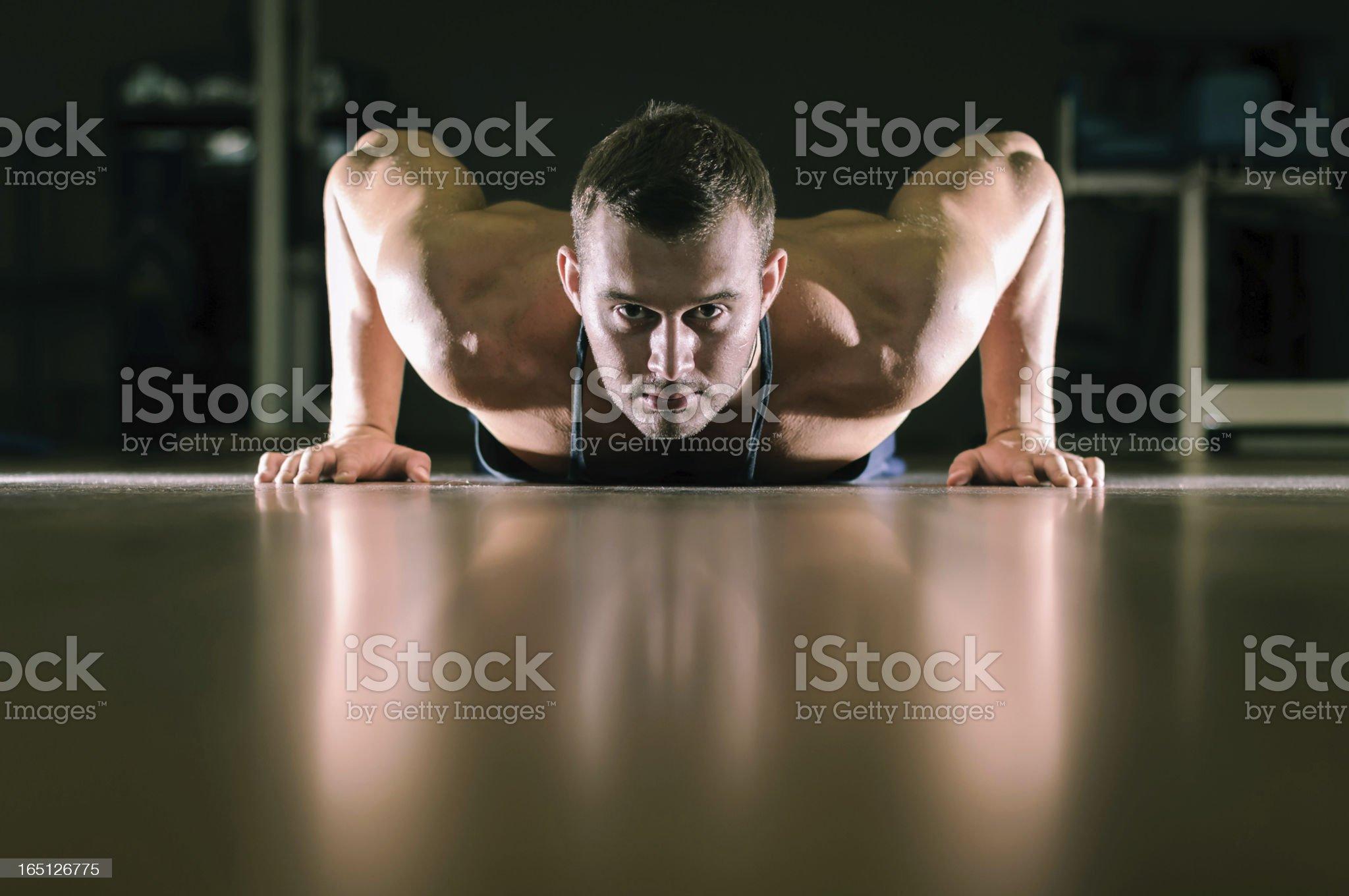 Gym training workout royalty-free stock photo