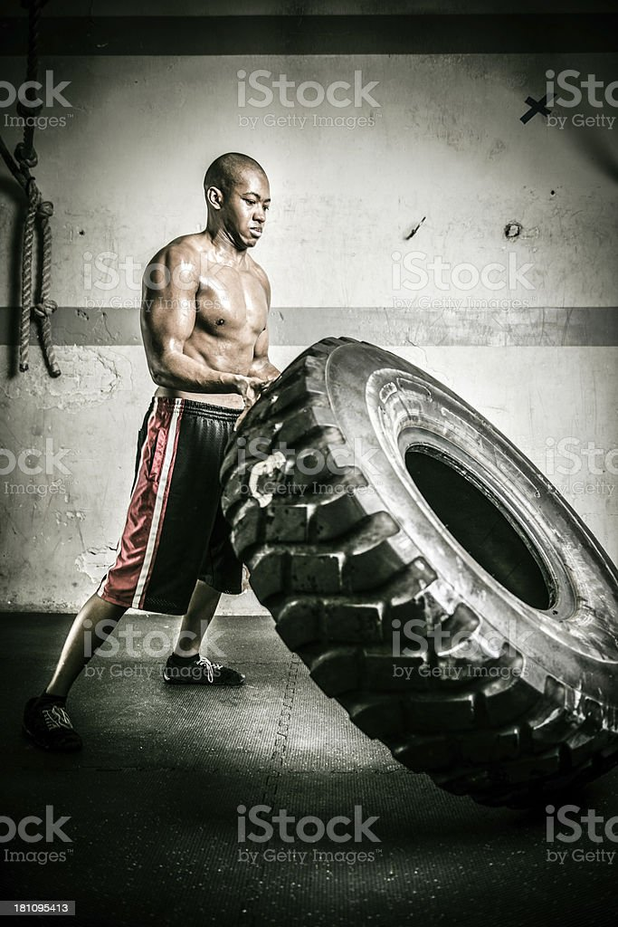 gym weight lifting stock photo