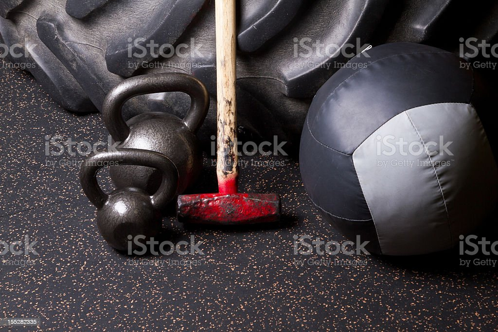gym Weightlifting Equipment royalty-free stock photo