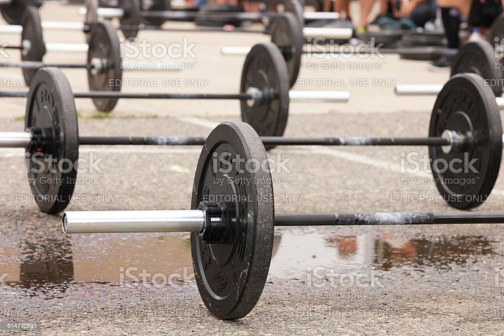 gym Weightlifting Weights stock photo