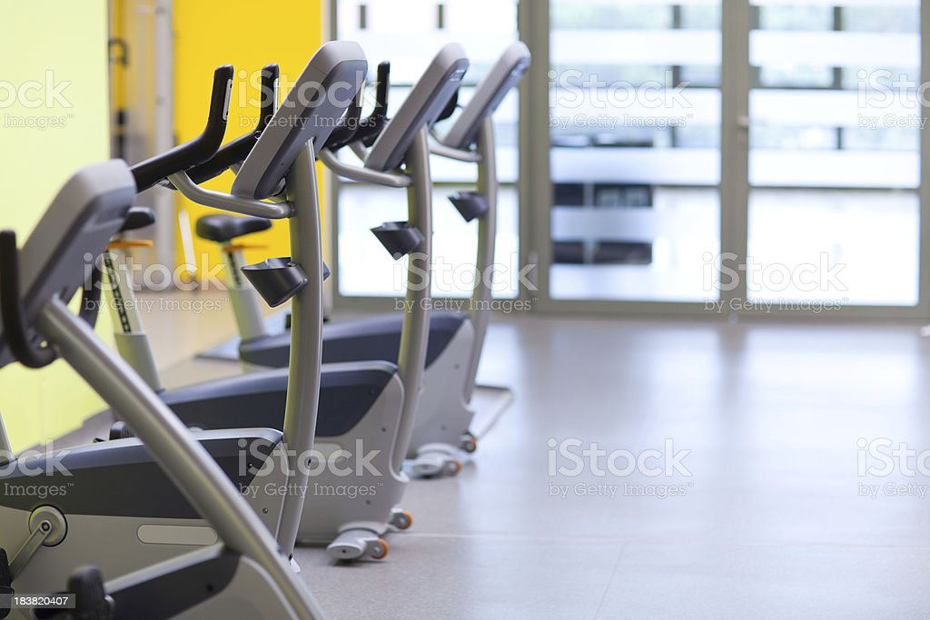 gym with ergometers royalty-free stock photo