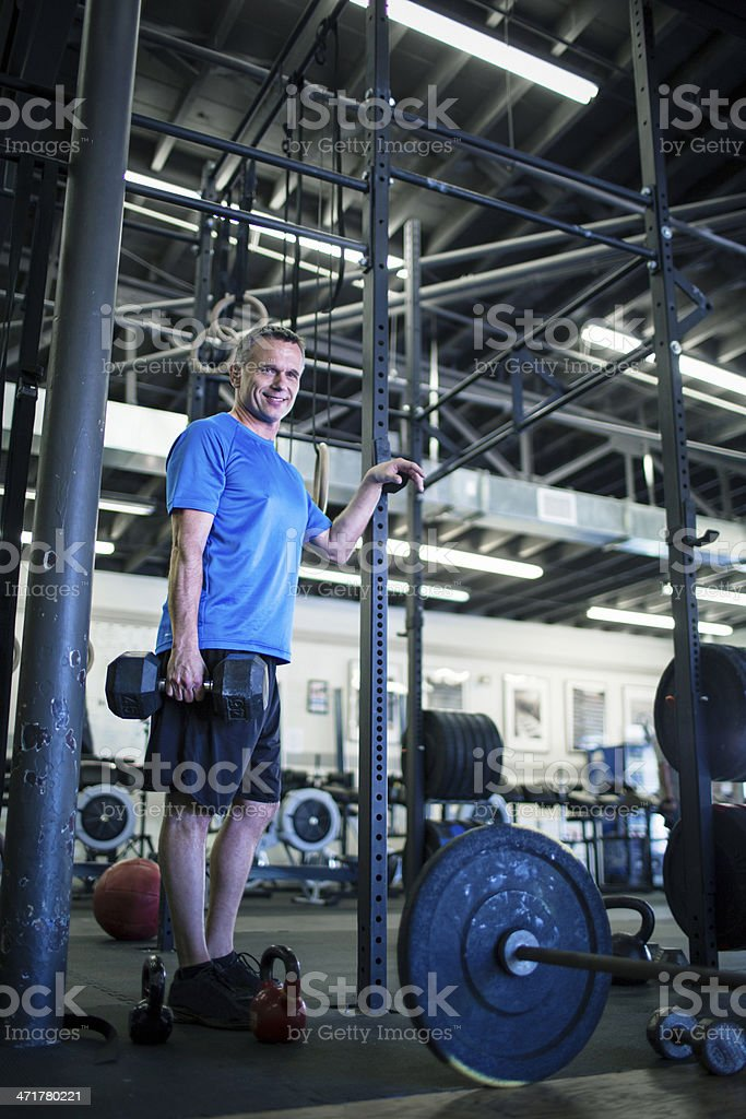 gym working out royalty-free stock photo