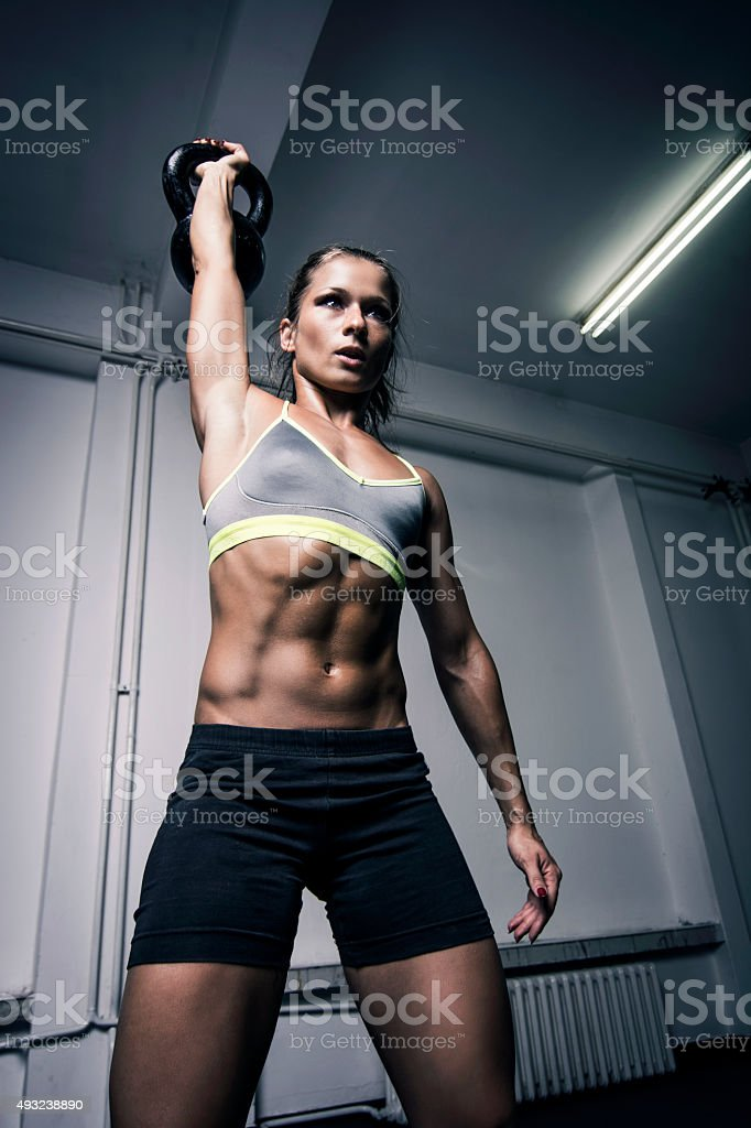 gym workout stock photo