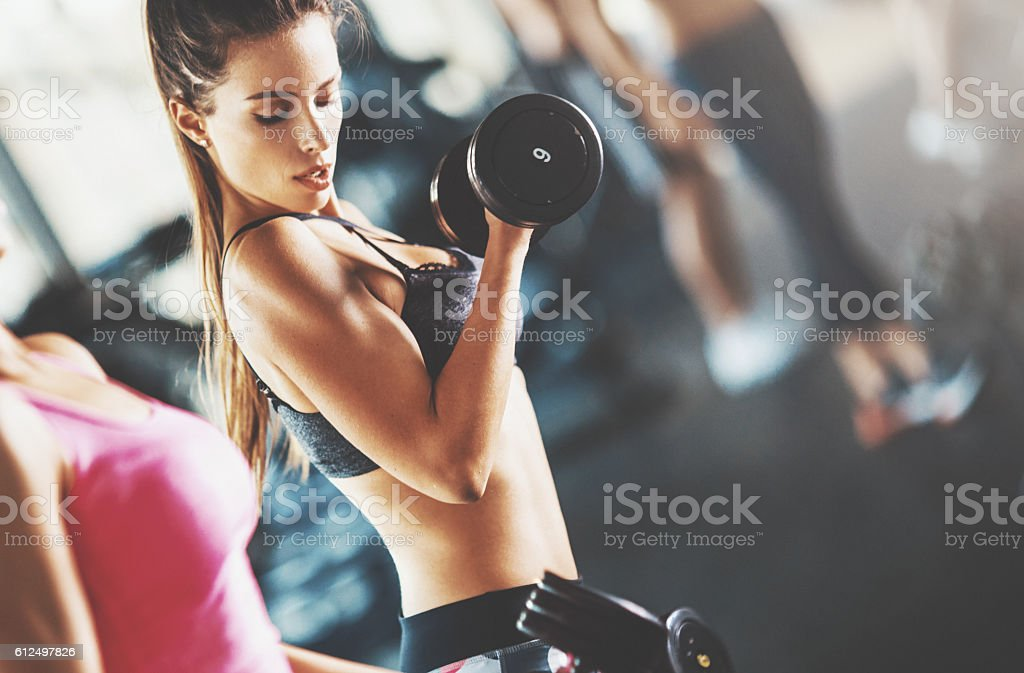 Gym workout. stock photo